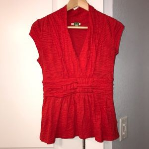Anthropologie - Blouse - Red - Size xs/s
